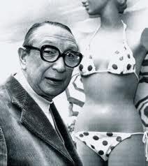 Yellow polka dot bikini inventor