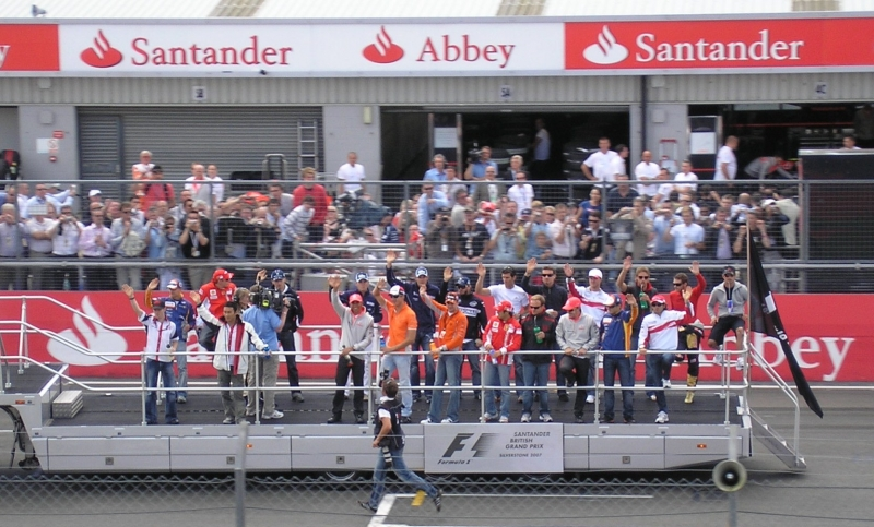 Drivers' parade, Silverstone Photo taken by DreyaB