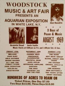 Woodstock original poster.