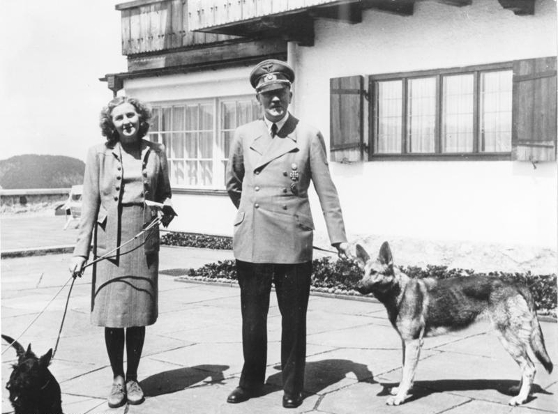 Adolf Hitler and Eva Braun at the Berghof