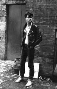 Andy Royston, 1980. Photo by John Shelley.