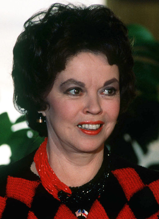 Shirley Temple Black 1990 in Prague - public domain photo