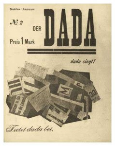 'DER DADA NO.2' 1919 (magazine cover) Edited by Raoul Hausmann, John Heartfield, and George Grosz.
