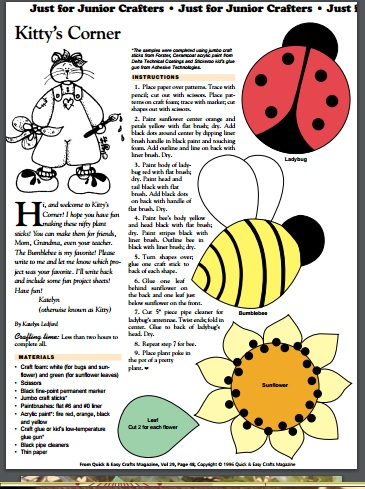 bee sunflower and ladybug copy