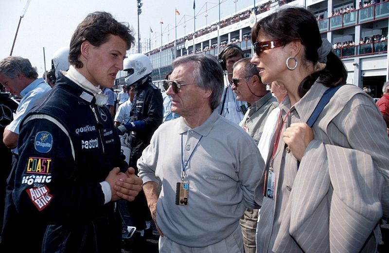 Bernie Ecclestone with Michael Schumacher 1991