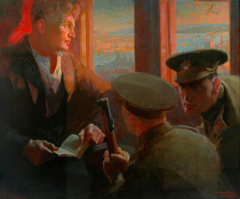 Gay, Arthur Wilson; The Conchie; Peace Museum; http://www.artuk.org/artworks/the-conchie-21680