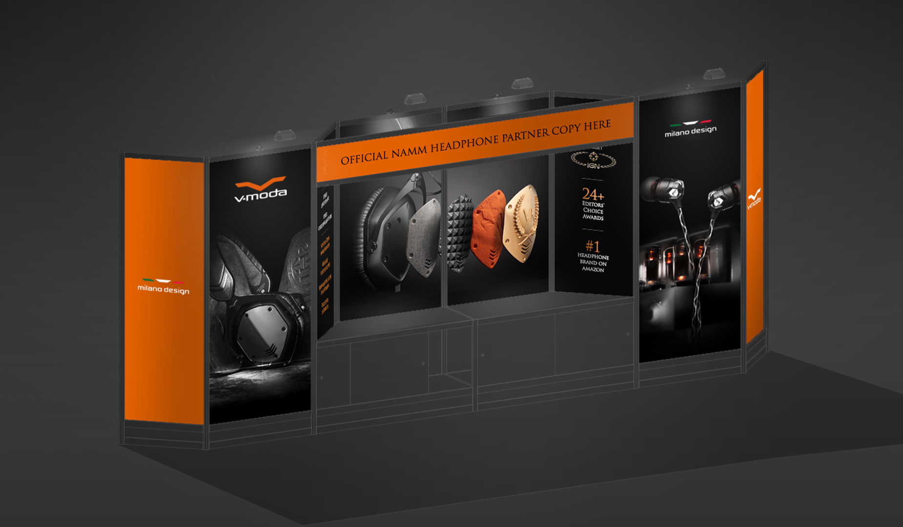3D V-MODA NAMM Booth Design