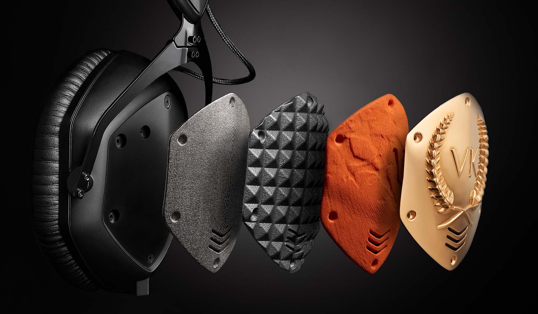 V-MODA 3D and Photo Headphone Shields Exploded