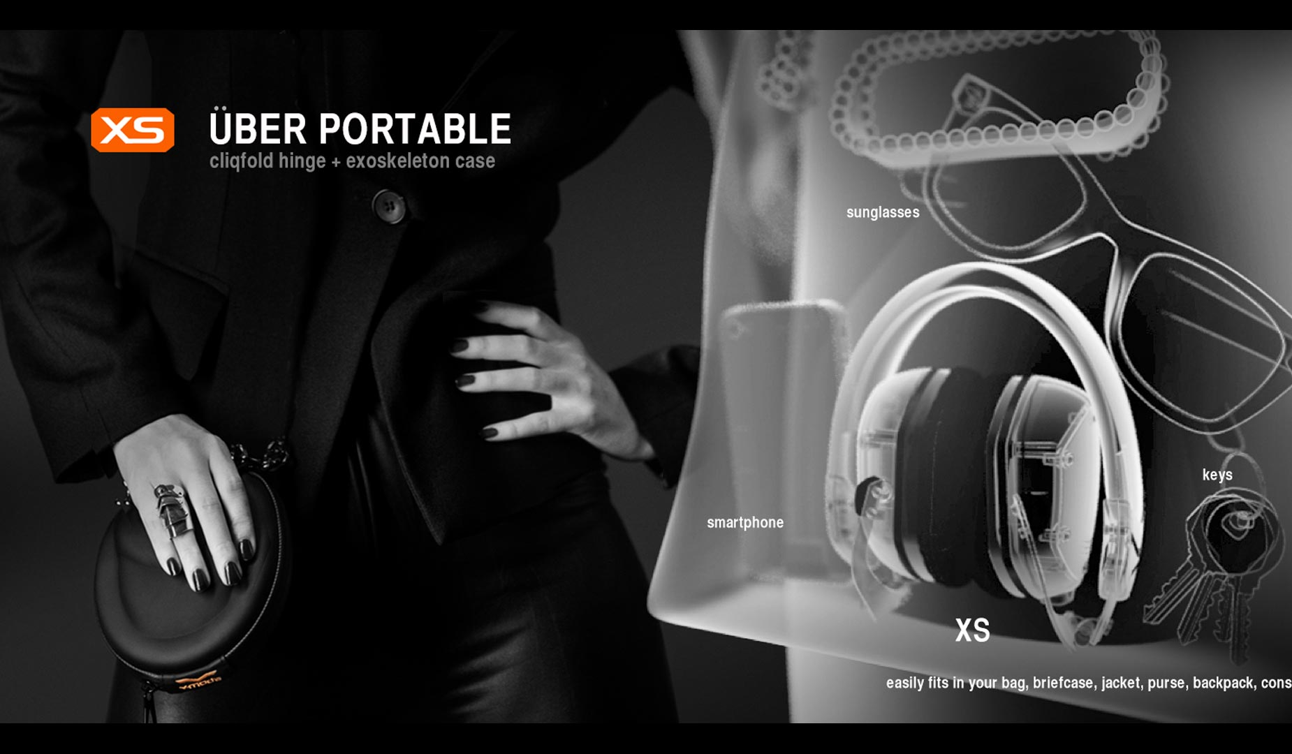 V-MODA XS 3D Portable Size