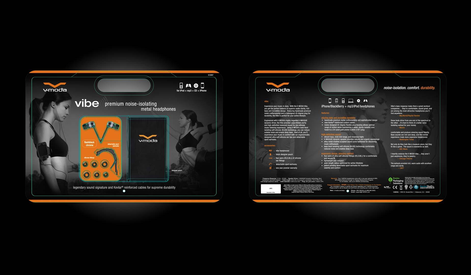 Costco Vibe V-MODA Packaging