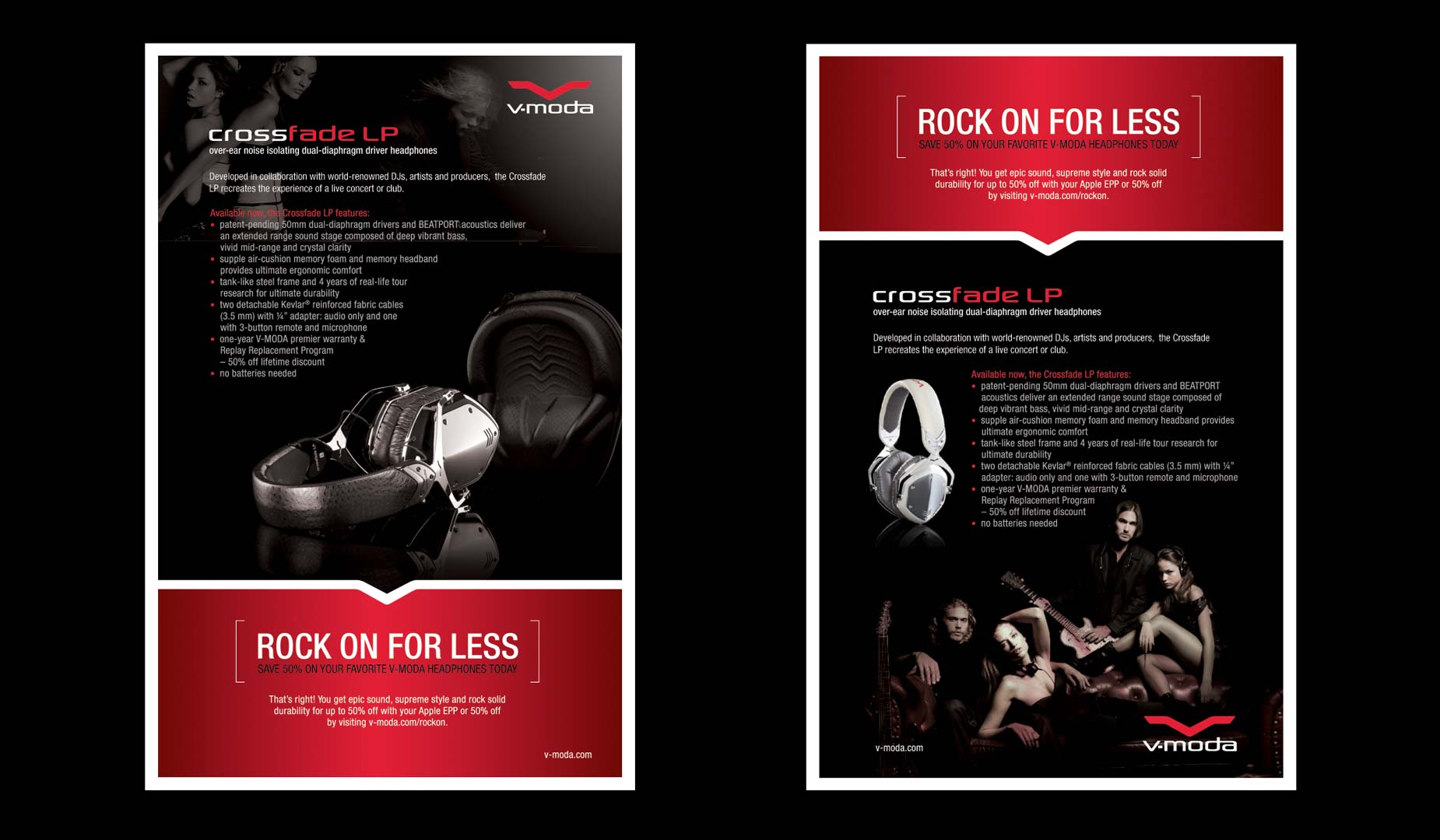 Rock On Full two Page Print Ad