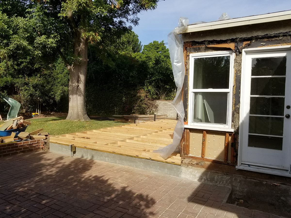 Room Addition Rough Build Phase in Van Nuys CA