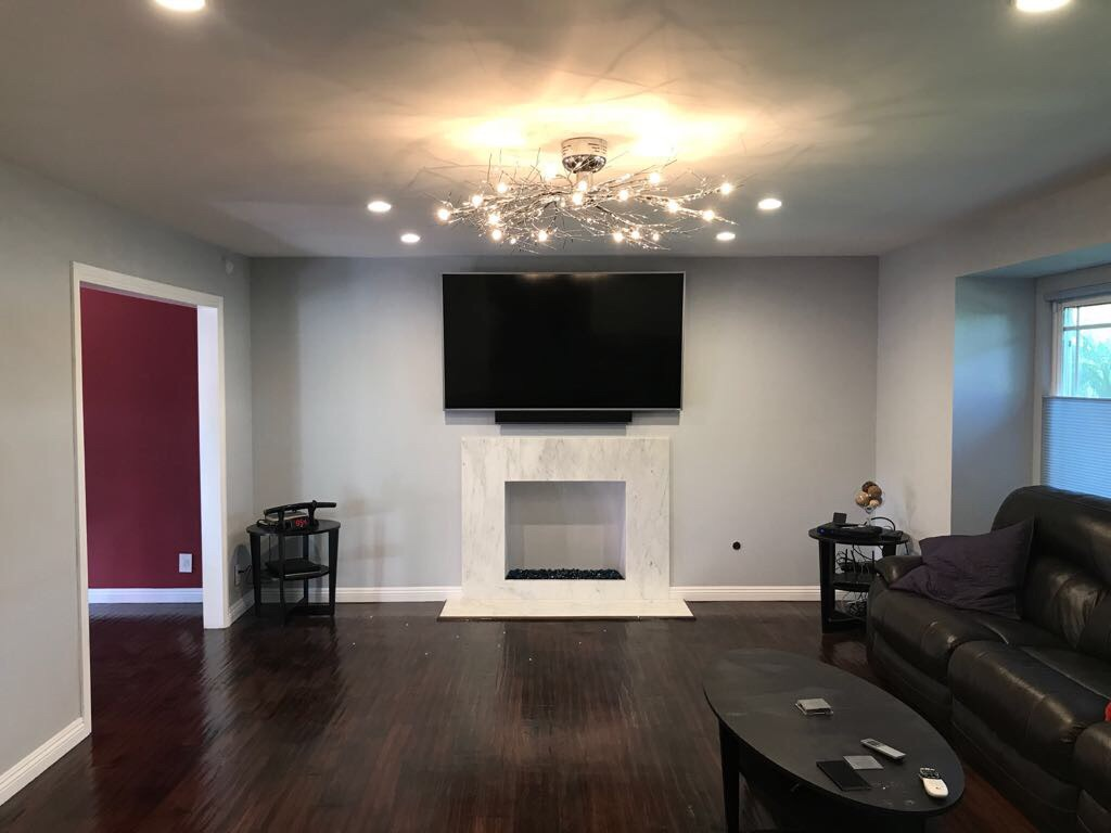 Interior Remodel with Fireplace Replacement in Granada Hills
