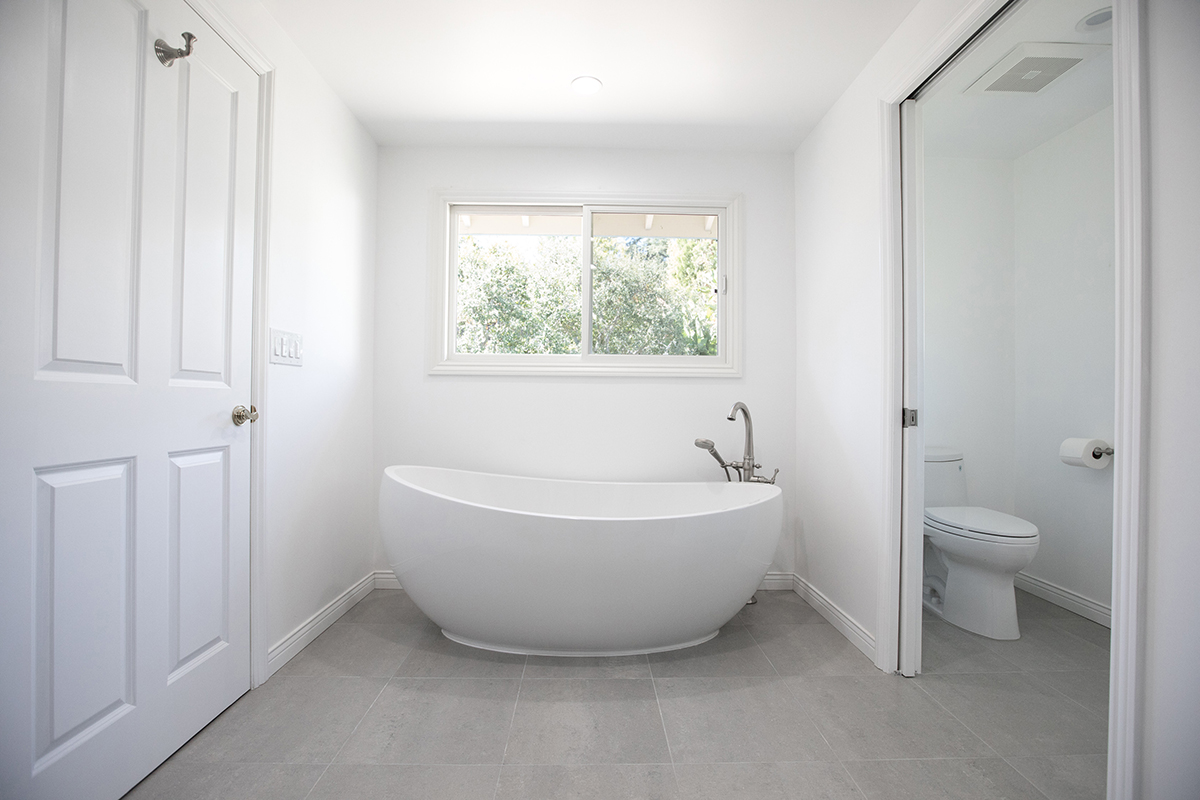 Master and Guest Bathroom Remodel with Freestanding Tub in Los Angeles