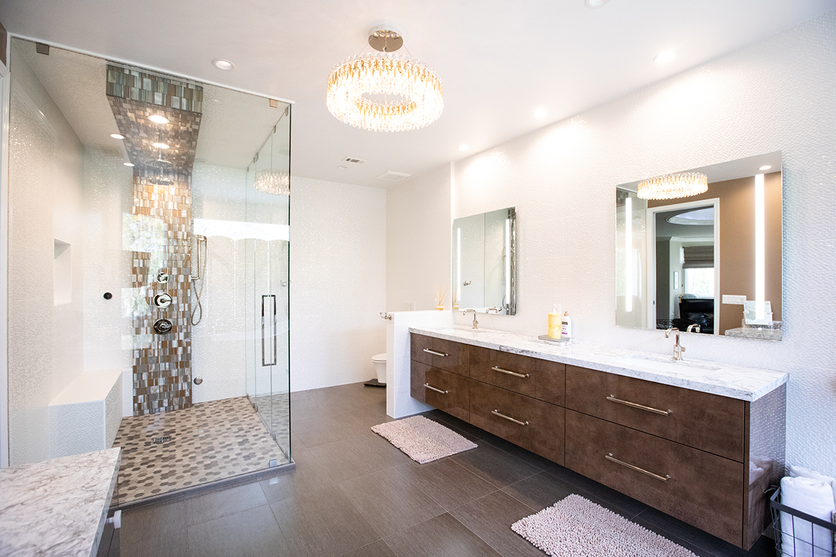 Master Bathroom Remodel with Free Standing Tub in Calabasas CA