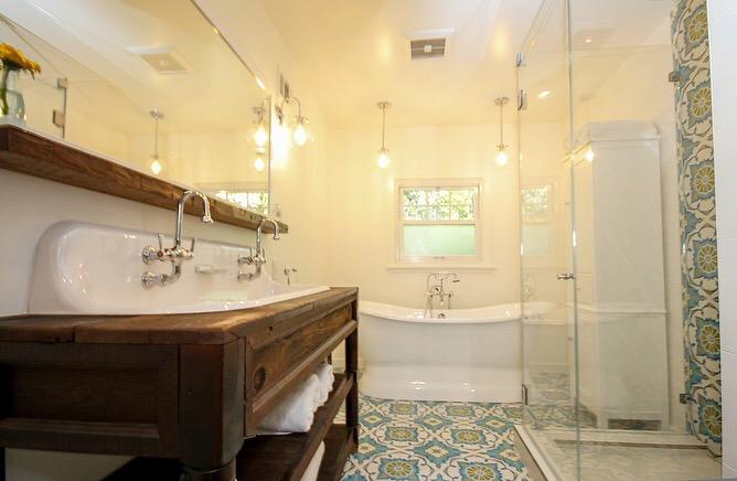 Southwestern Retro Master Bathroom Remodel in Van Nuys