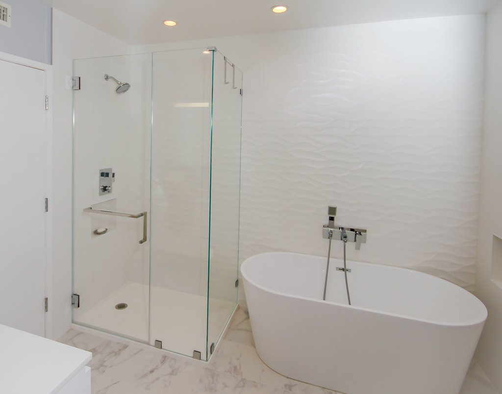 Modern Bathroom Remodel with Freestanding Tub in Woodland Hills