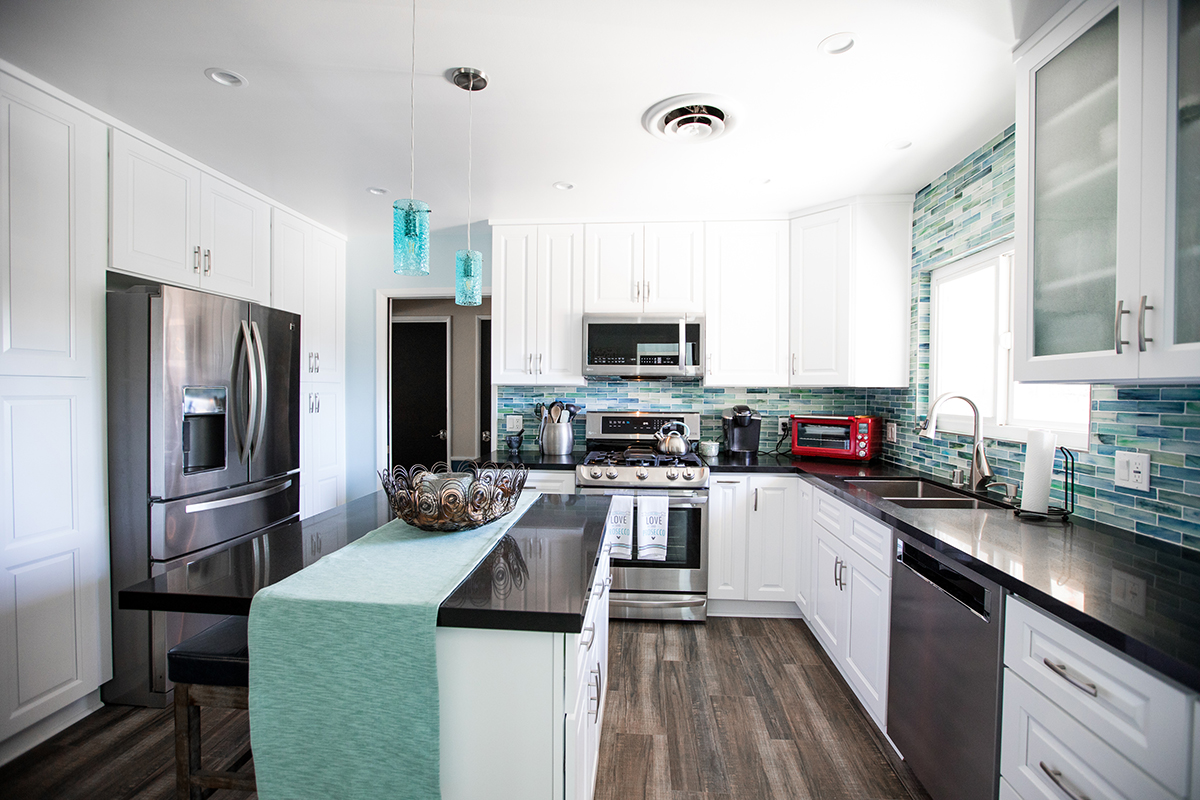 Kitchen Remodel with White Shaker in North Hills CA