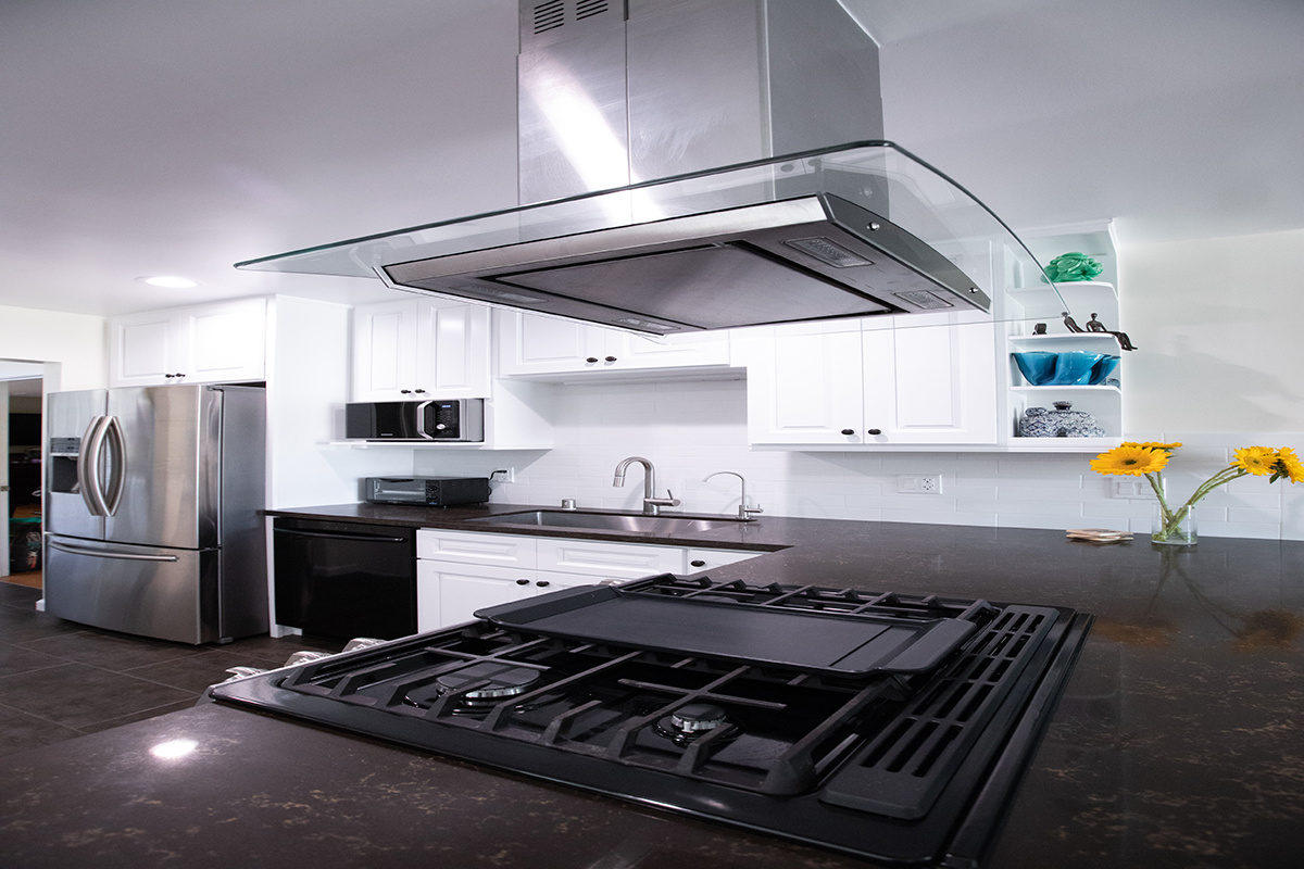 Kitchen Remodeling with White Shaker and Subway Backsplash in Sherman Oaks