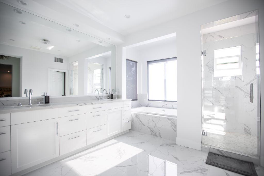 Spectacular Modern Master Bathroom Remodel    in Oak Park