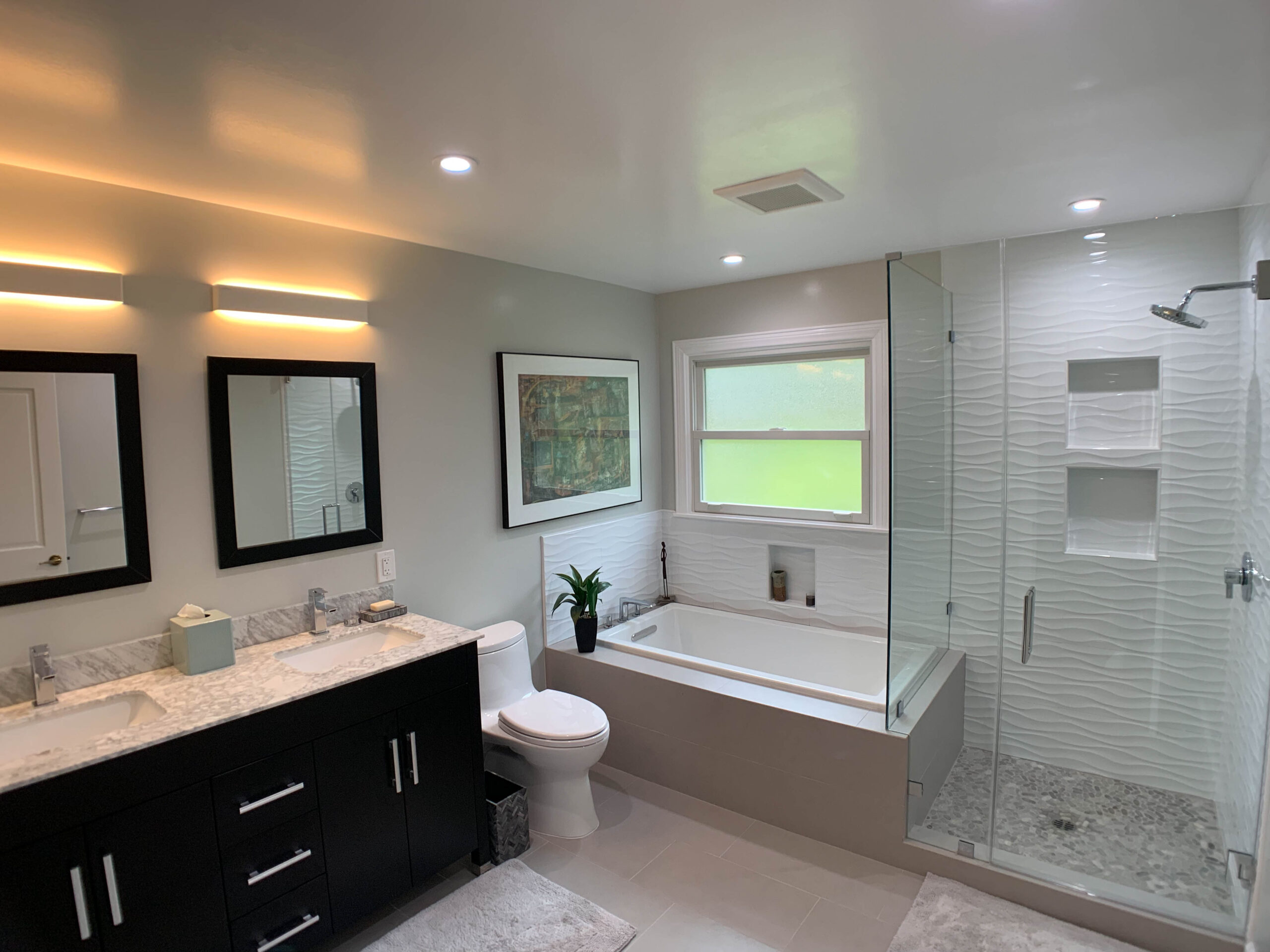 Guest and Master Bathroom Remodels in Pacific Palisades CA