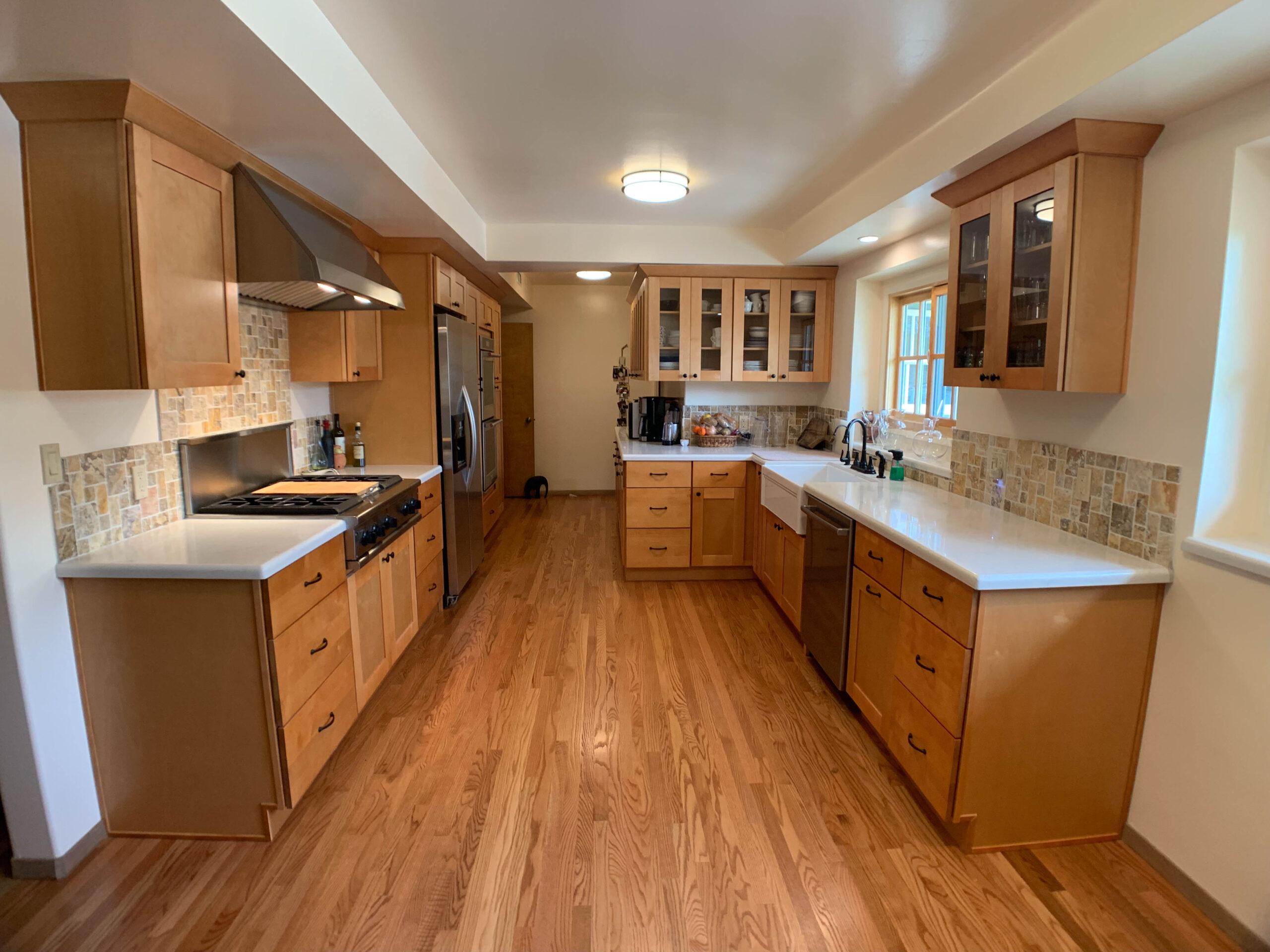 Natural Maple Kitchen Remodel Woodland Hills CA