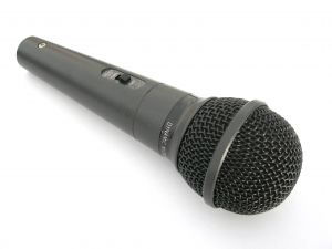 """No Sweat Public Speaking!"" microphone, hand held"