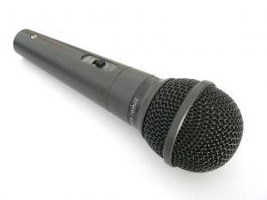 """No Sweat Public Speaking!"" microphone, hand held"