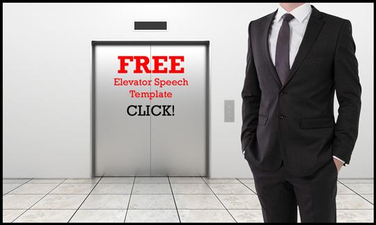 FREE Elevator Speech Template