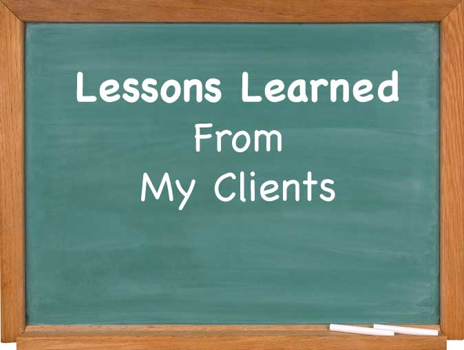 Lessons from Coaching Clients
