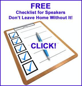 FREE Speaker's Checklist