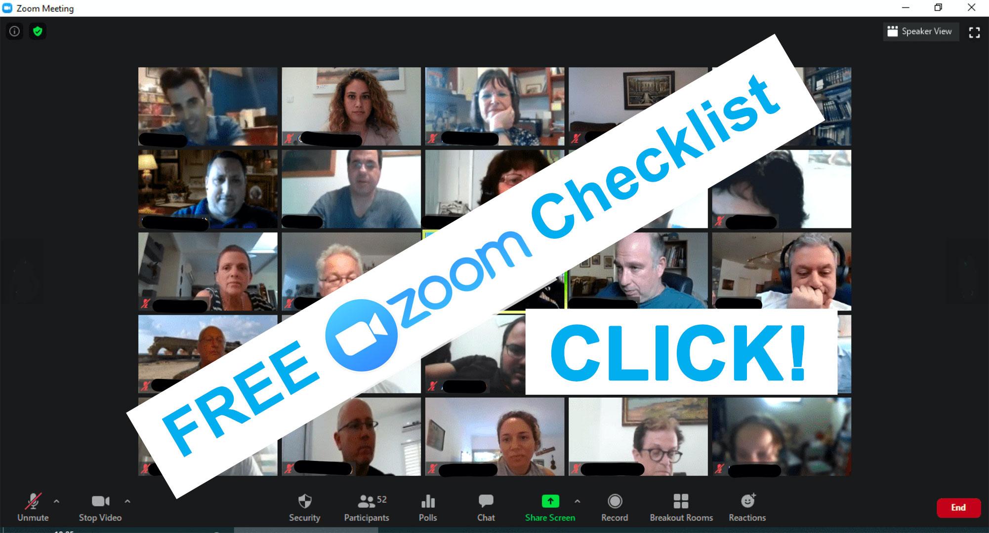 zoom checklist