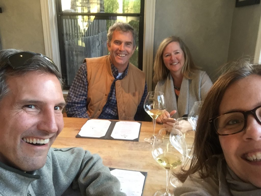 Wine tasting at Sojourn Wines in Sonoma with the Phelans