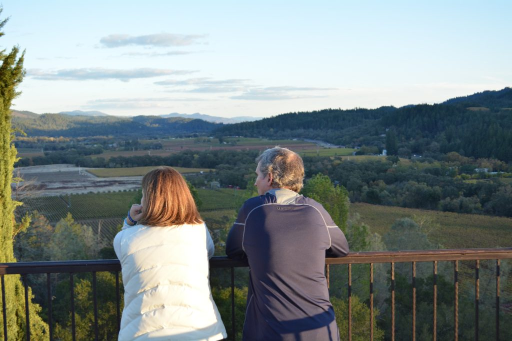 Enjoying the serenity of the Vineyards at Sunset