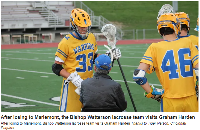 ALS sidelined Mariemont, Tar Heel lacrosse legend Harden, so a Columbus team came to him