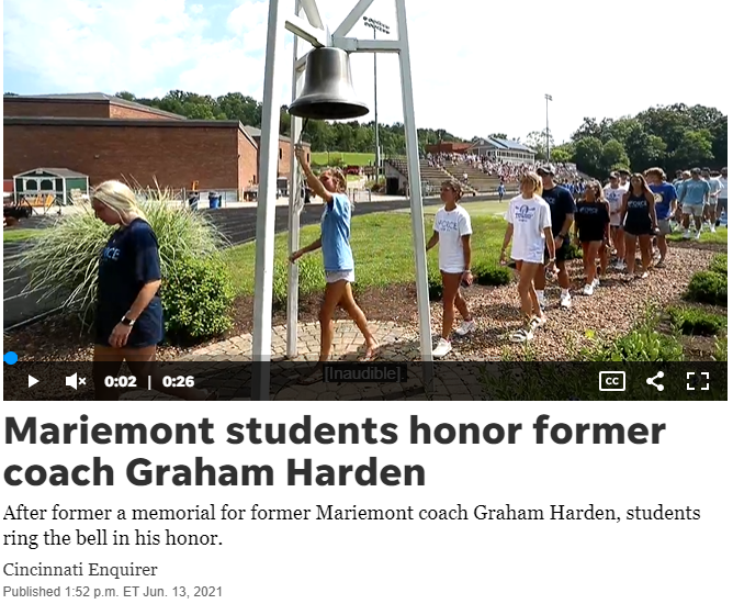 Former students ring bell in Graham's honor