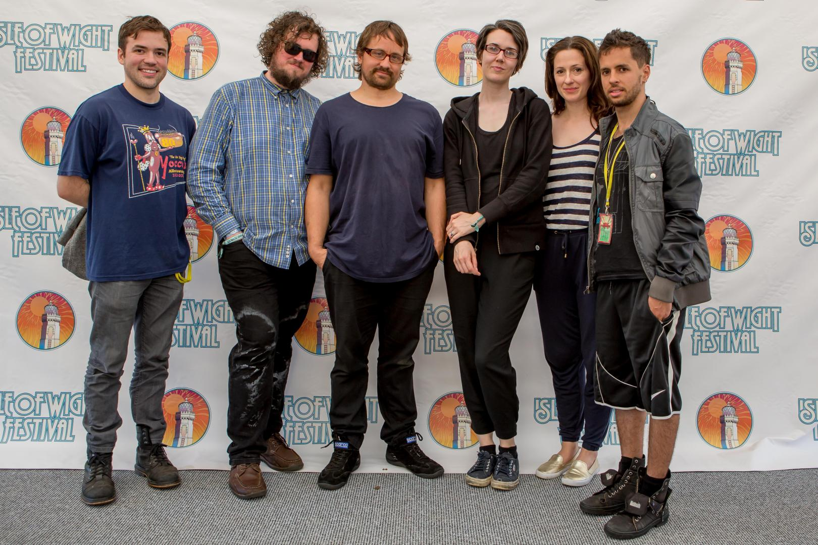Backstage at Isle of Wight Festival 2017 with Wheatus