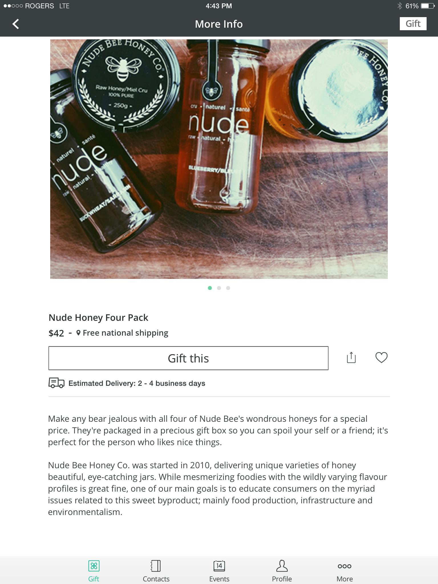 Giftagram Nude Bee Honey Co.