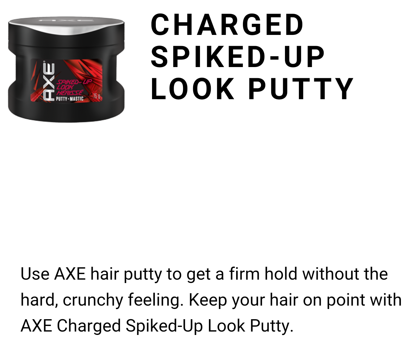 #AXEGOTSTYLE Charged Spiked-Up Look Putty