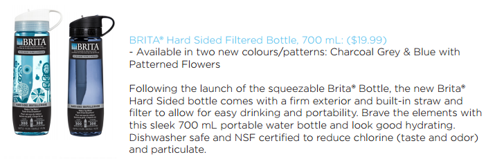 #BritaHydrate Hard Sided Filtered Bottle 750 mL