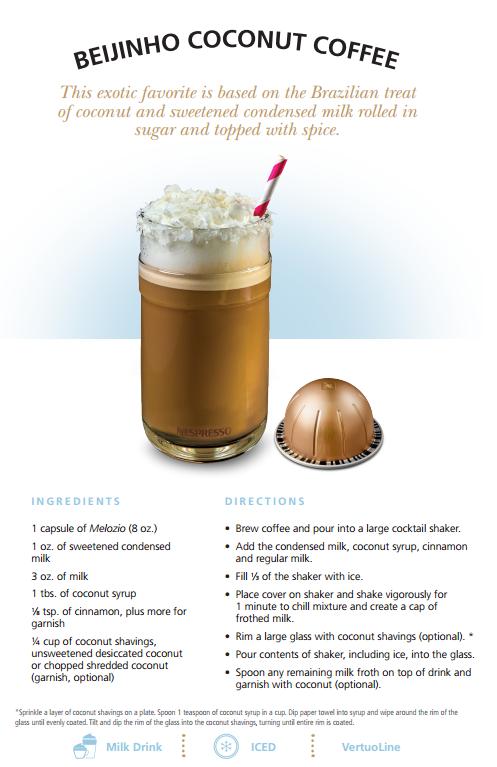 #TasteWithNespresso Beijinho Coconut Coffee