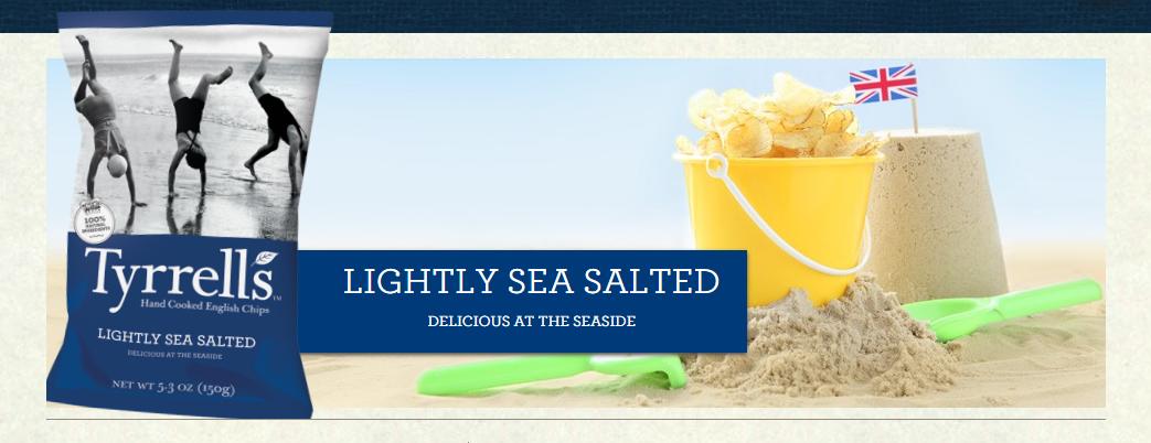 #TyrrellsFirstBite LIGHTLY SEA SALTED