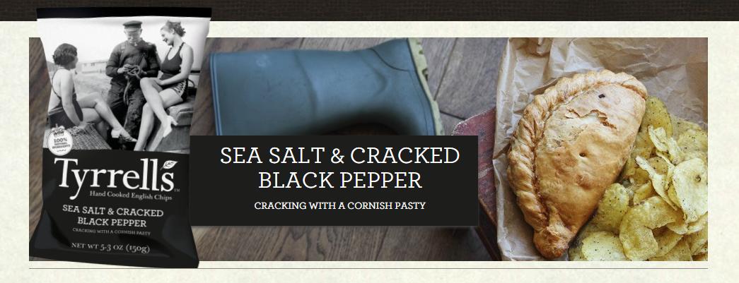 #TyrrellsFirstBite SEA SALT & CRACKED BLACK PEPPER