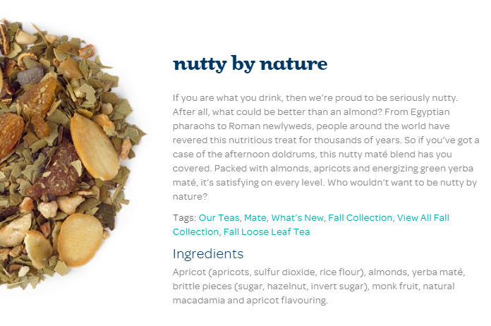 DAVIDsTEA Thanksgiving Collection DoTheDaniel.com Nutty by Nature