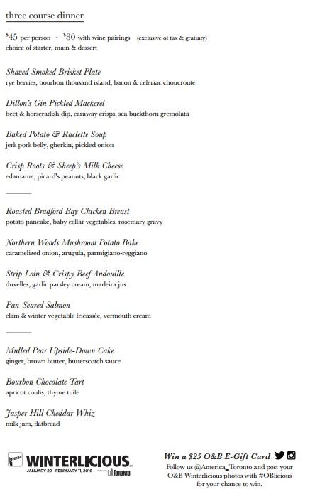 America #OBLicious Dinner Menu DoTheDaniel