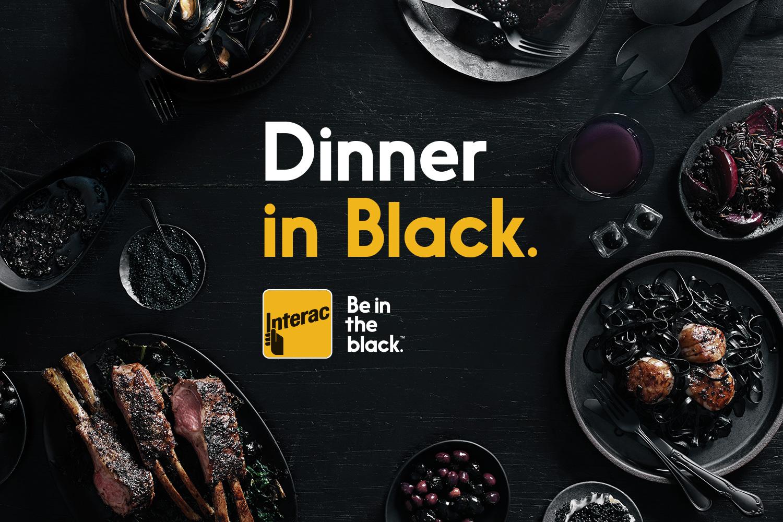 Interac-Dinner in Black