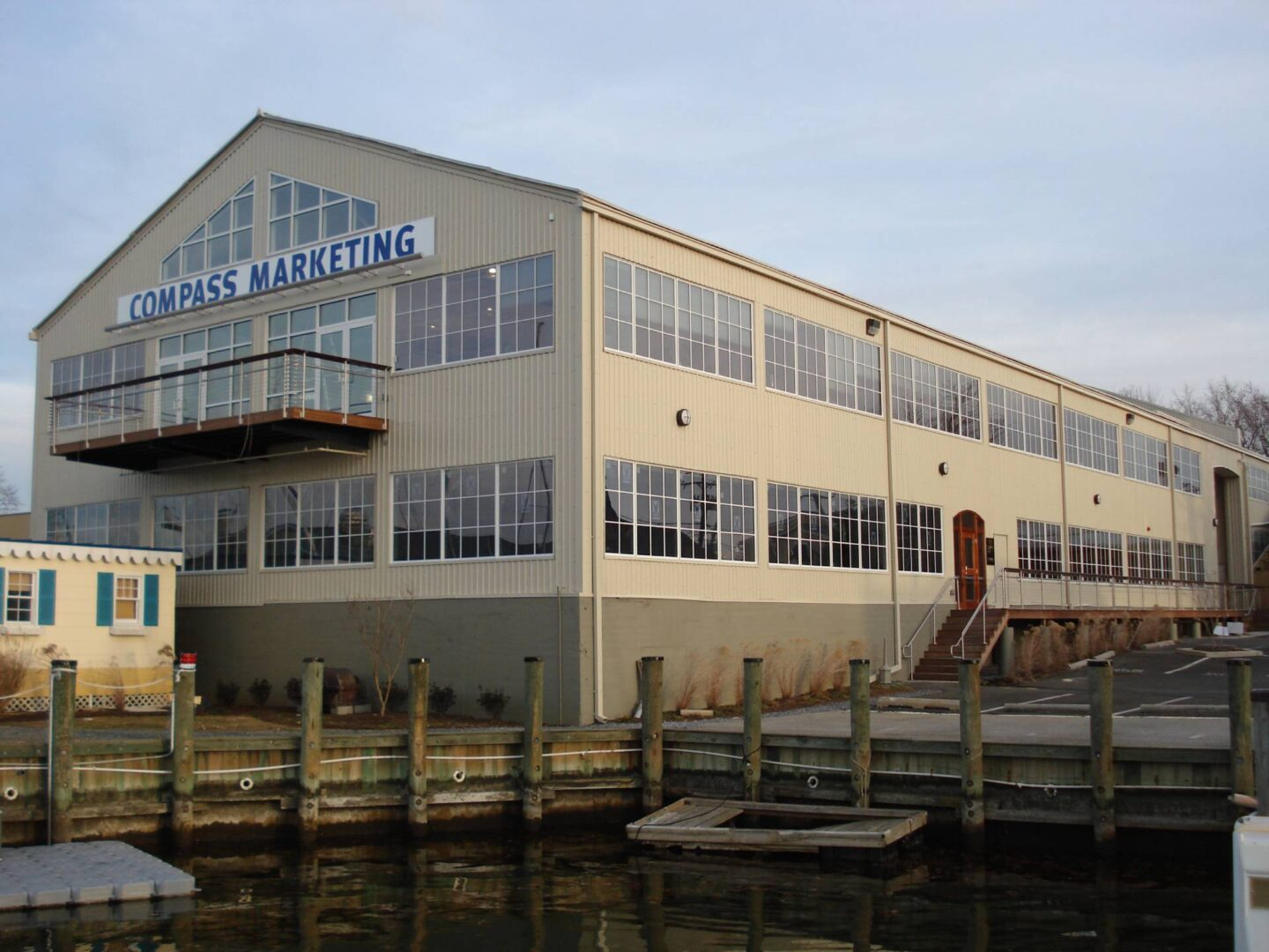 In 2007, The Big Shed, an old boat building structure on Spa Creek in Annapolis, is converted to Class A office space with a maritime flair.