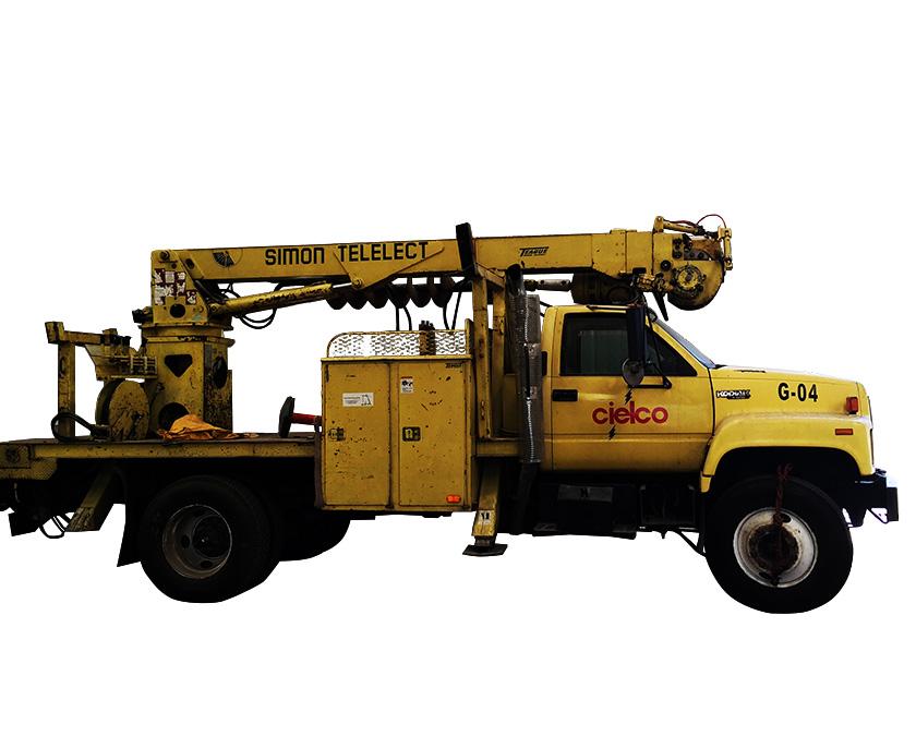 Grúa Simon Telelec camión Kodiak