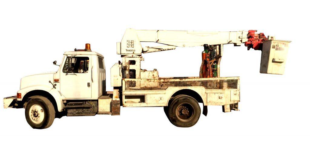 Grúa Texona TX342 sobre camión International