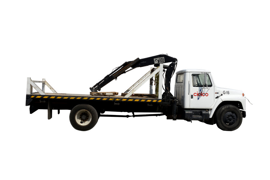 Grúa Hiab 550-3 sobre camión International